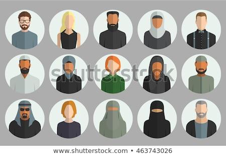 arab · moslim · oude · vrouw · avatar · ingesteld · vector - stockfoto © nikodzhi