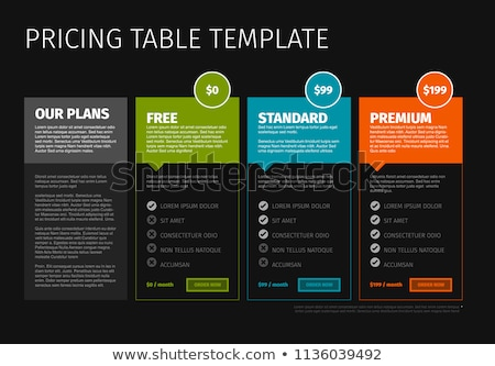 Minimalist pricing compare table template Stock photo © orson