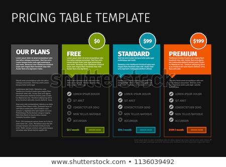 termék · árazás · összehasonlítás · asztal · modern · vektor - stock fotó © orson