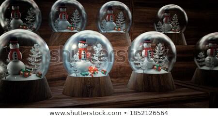 Christmas Snow Globe On A Shelf Stock photo © solarseven
