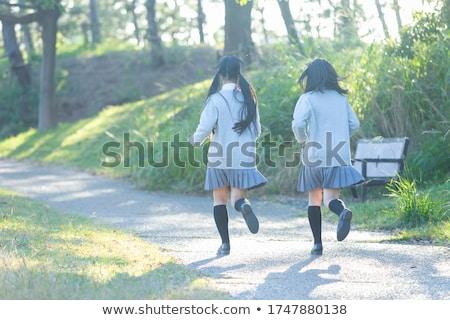 Vert blazer fille Photo stock © toyotoyo