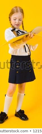 gyönyörű · lány · blúz · szoknya · gyönyörű · fiatal · nő · fehér · blúz - stock fotó © traimak