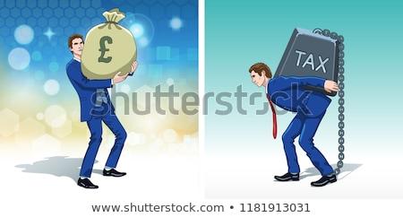 belasting · Rood · witte · geld · financiële - stockfoto © elnur