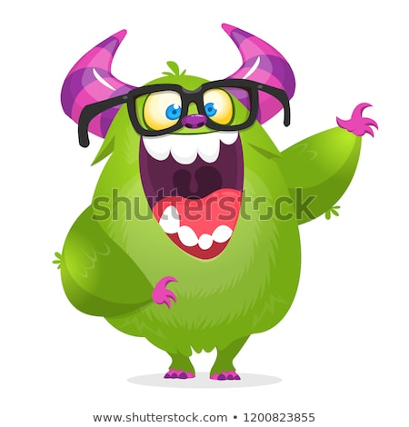 cartoon monster talking stock photo © cthoman