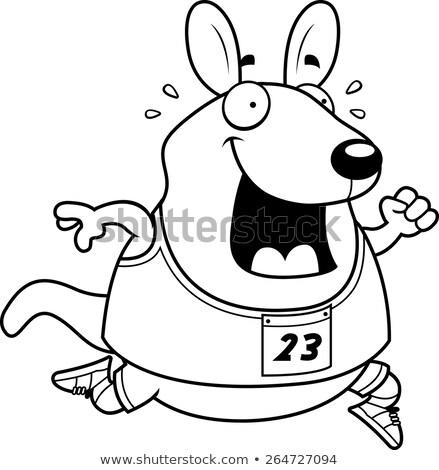 Cartoon Wallaby Running Race Stock photo © cthoman