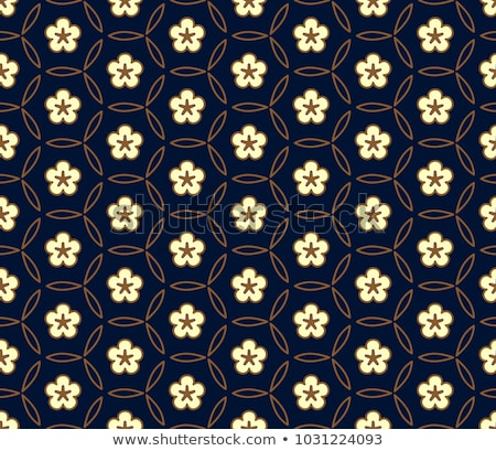seamless flower rangoli pattern stock photo © kostins