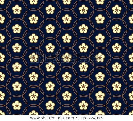 Seamless Flower Rangoli Pattern Stock photo © kostins