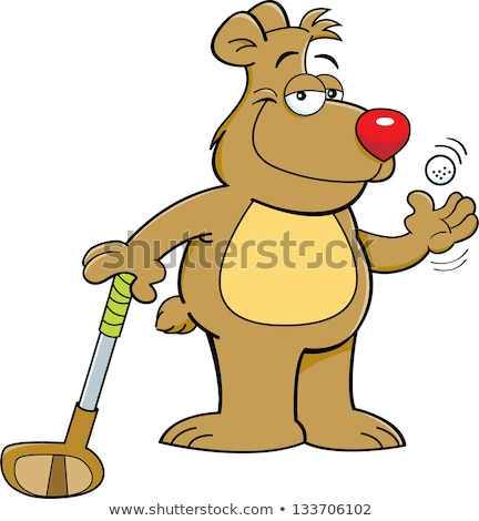 Cartoon Bear Golfing Stock photo © cthoman