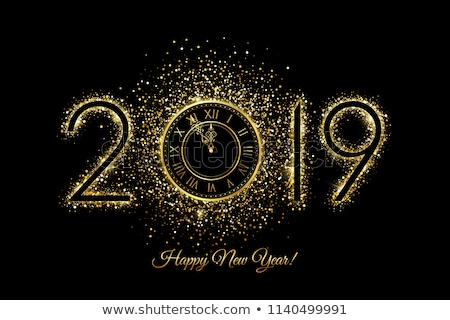 happy new year 2019 night party confetti card stock photo © cienpies