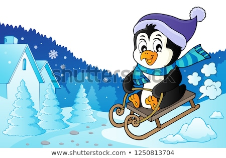 Sledging penguin theme image 3 Stock photo © clairev
