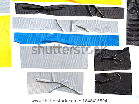 Black and white electrical plastic tape Stock photo © homydesign