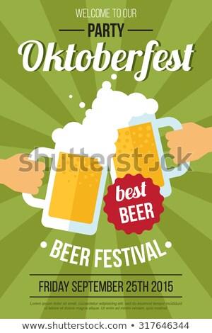 Foto stock: Oktoberfest · cerveza · festival · invitación · color · tarjeta