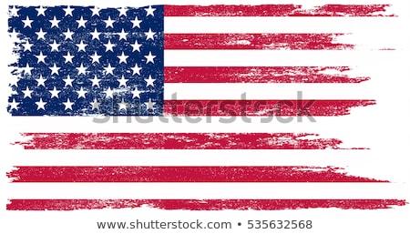 Koszos USA zászló textúra keret retro Stock fotó © Minervastock