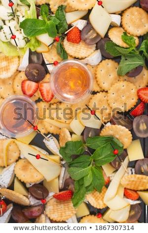 Delicioso mel evento prato morango queijo Foto stock © ruslanshramko