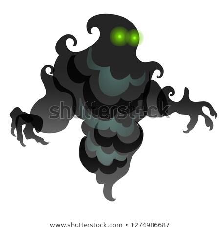 黒 フォーム 雲 煙 目 孤立した ストックフォト © Lady-Luck