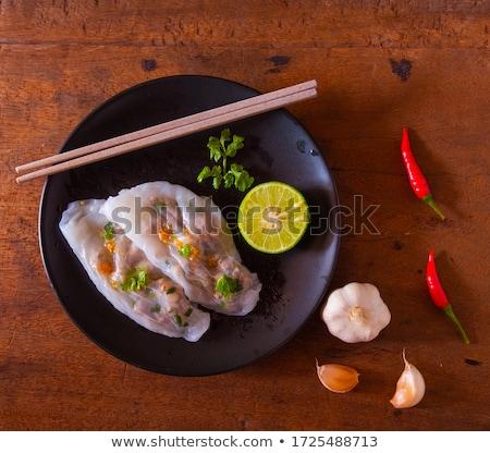 Ancient Vietnamese dishes for cooking traditional Vietnamese food Stock photo © galitskaya