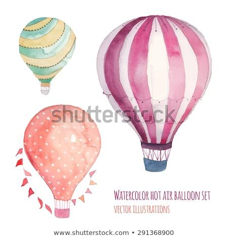 Izolált gyerekek hőlégballon illusztráció gyerekek terv Stock fotó © bluering
