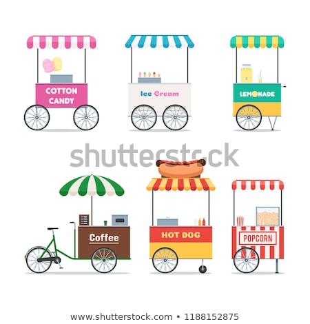 isolated lemonade stall on white background stock photo © bluering