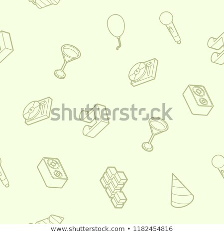 Pyrotechnics color outline isometric pattern Stock photo © netkov1