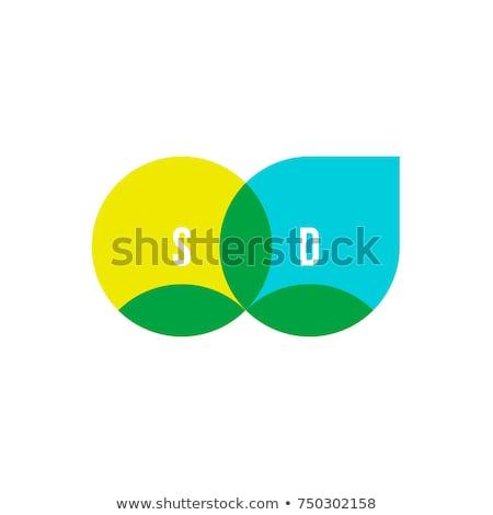 水滴 · 緑色の葉 · アイコン · ツリー · 自然 · デザイン - ストックフォト © ussr