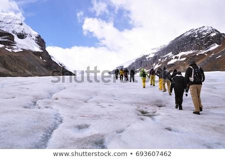 Gleccser víz hegyek tó folyó fehér Stock fotó © benkrut