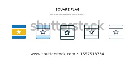 Banner with two square flags of China and russia Stock photo © MikhailMishchenko