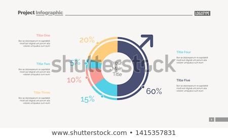 Photo stock: Infographie · tarte · diagrammes · analyse · homme · vecteur