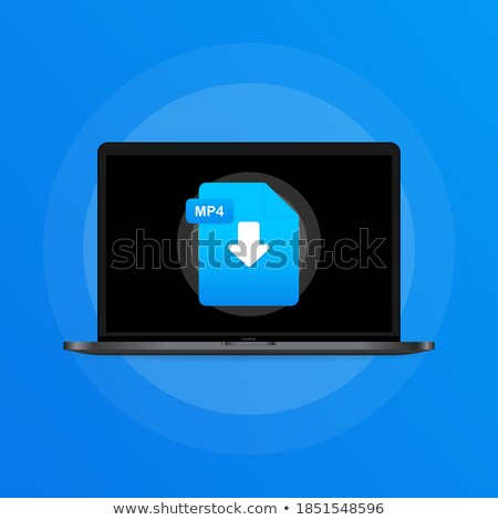 Office Paper and Laptop Screen Arrows Set Vector Stock photo © robuart