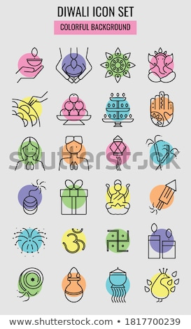 Diwali icons set Stock photo © netkov1