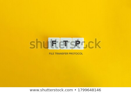 ftp · bestand · overdragen · protocol · woord · vintage - stockfoto © almagami
