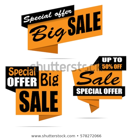Stock photo: Special Offers, Hot Sales with Price Reduction Set