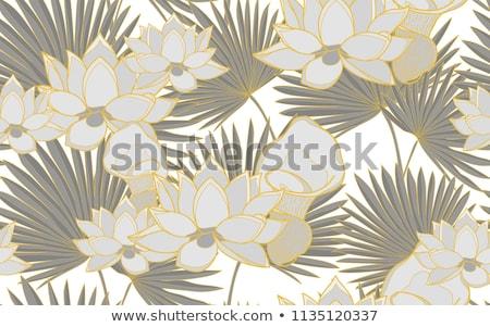 Bloemen palmbladeren mooie zomer Stockfoto © Terriana