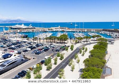 Port Vauban harbor in Antibes view Stock photo © xbrchx