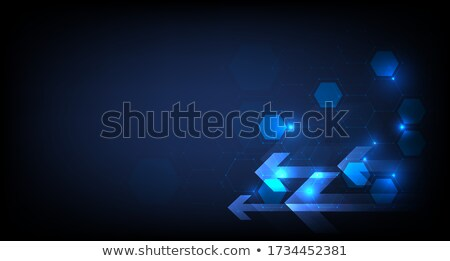 Microchip Processor Lights Hexagon Structure Stock photo © limbi007