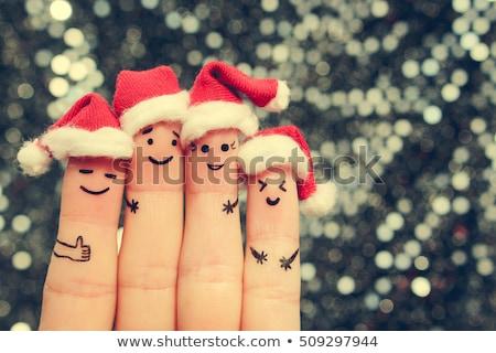 Karácsony buli ünneplés emberek jó hangulat vektor Stock fotó © robuart
