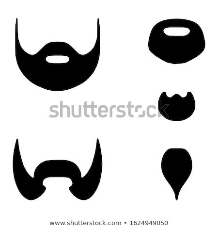 Kecskeszakáll ikon árnyék tükröződés terv férfi Stock fotó © angelp