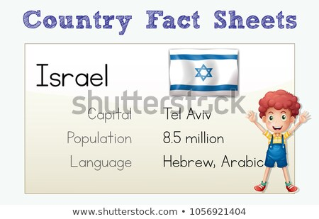 Flashcard with country fact for  Israel Stock photo © colematt