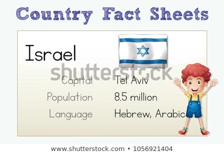 Land Tatsache Israel Illustration Kind Studenten Stock foto © colematt