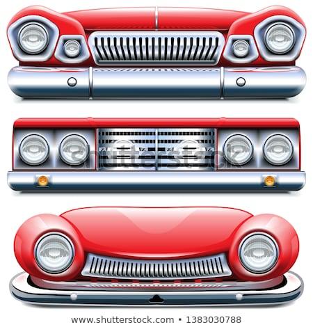 vettore · rosso · camion · cassetta · degli · attrezzi · isolato · bianco - foto d'archivio © dashadima
