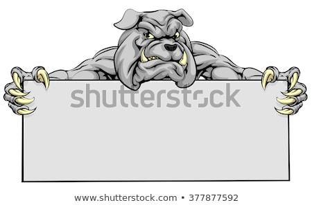 Cartoon zębów clipart szczęśliwy usta funny Zdjęcia stock © doomko