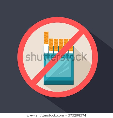 Stop Smoking Banner Forbidden Harmful Habit Vector Stock photo © robuart