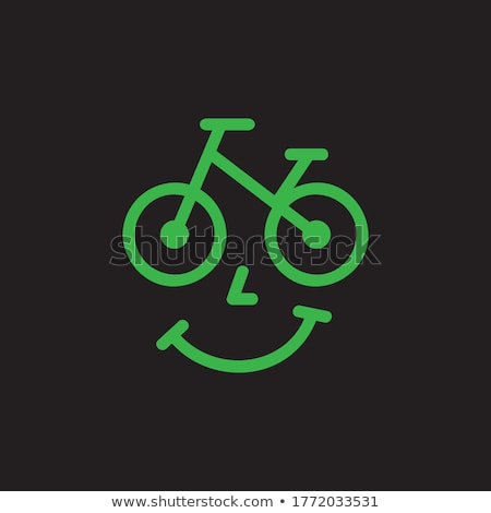 Logo for Bicycle rental. Vector illustration on white background Stock photo © butenkow