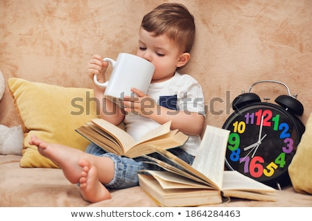 Coloring book boy with number three Stock photo © clairev