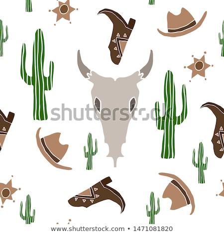 skull pattern design isolated on white background stock vector stock photo © jeksongraphics