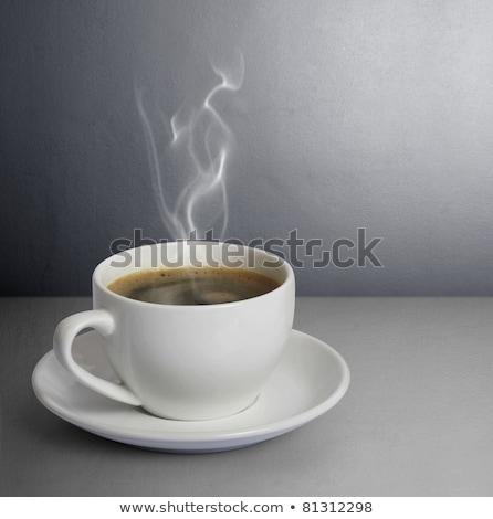 чашку кофе красный Top мнение копия пространства кофе Сток-фото © karandaev
