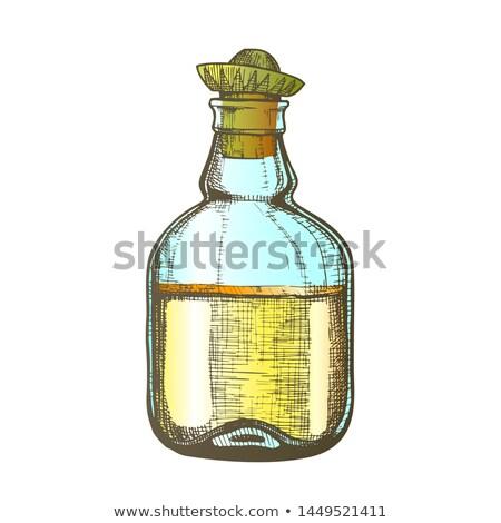 Szín terv tequila üveg mexikói kalap Stock fotó © pikepicture