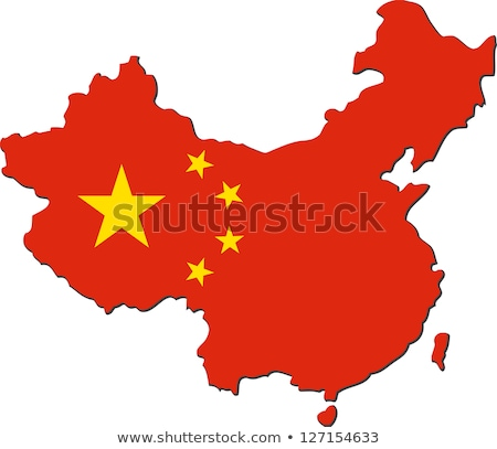 Cartografía icono China mapa bandera vector Foto stock © robuart