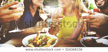 People Dining in Restaurant, People on Vacation Stock photo © robuart