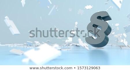 Bekezdés zuhan kirakó darabok fehér 3d illusztráció puzzle Stock fotó © limbi007