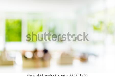 Gyönyörű családi portré ül nappali otthon család Stock fotó © Lopolo
